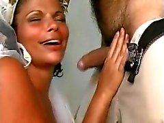Braut -Sharing mit der brasilianischen Männer auf Flitterwochen