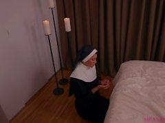 demon possessed nun sucks the soul out of your cock - meana wolf