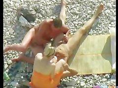 Voyeur Beach Bi 3some