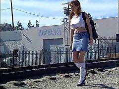 Bir otelde çarptım ısı Schoolgirl