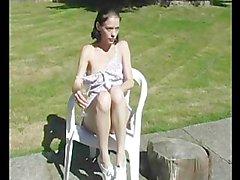 Sun tanning sunshine Palidezca Adolecente