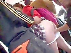 Woman Having Multiple Orgasms on Bus