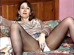 Britânico vagabunda Fran brinca com ela mesma em várias cenas