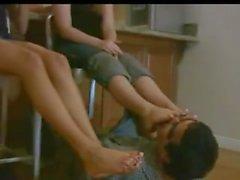 Claen pés pé adoração 2 meninas