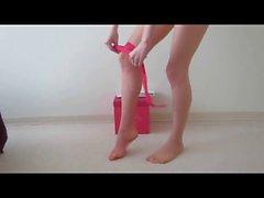 Colocar sobre meias