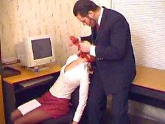 Patron Kloroform ve Tecavüz onu Office Sekreter