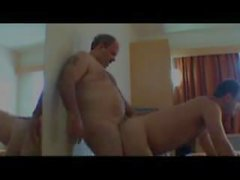 moustached daddy fuck bear at a hotel room