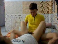 Вьетнамская University преподаватель жажда со своим учеником от кулачке - Р 1