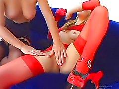 Threesome com Katin , Jayna Woods,