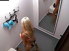 Czech Blonde Chick Tries Out Underwear
