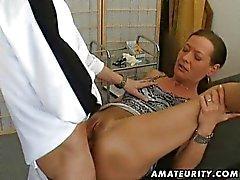 La esposa de aficionados anal creampie