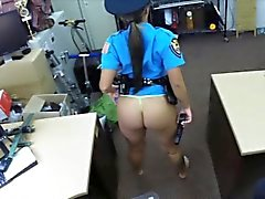 Latina police officer gets her pussy banged by pawn guy