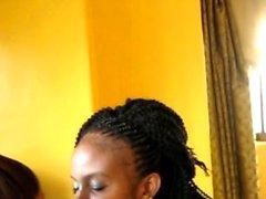 Amantes lésbicas africanas apaixonadas