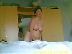 Mom changing after shower