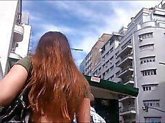 Gris culotte de Upskirt Pendeja Argentina