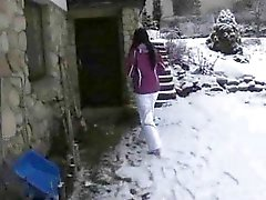 Neighbours wife shows her house and cheats