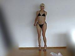 Lucienne in black bikini