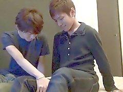 Giovani Senza giapponese sborra di tempra