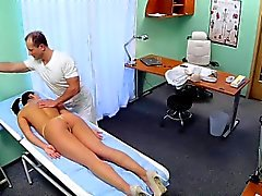 Doctor massages and fucks beautiful nurse