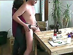 Granny sucking on my dick