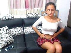 Incantevole spettacolo di masturbazione per adolescenti in webcam