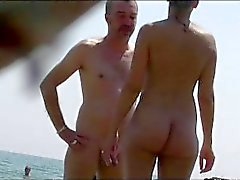 Playa nudista de bronceado desnudo Babes Spy Cam HD Video