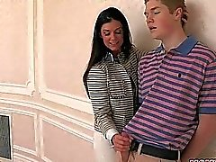 Stepmom India Summer hot ffm 3some sex