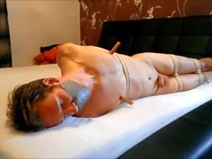 WSBP - Nacked Guy Tied and Gagged on the Bed! (Full Version)
