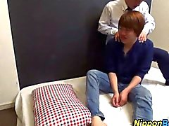 Japanese teen sucks a dick with so much desire