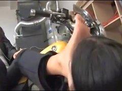 Motociclista Lesbian Pé Domination