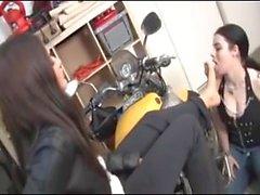 Biker Lesbian Foot Domination
