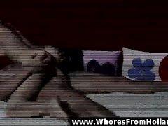 Любитель пижон трахает Европейское проститутка за наличный по Голландии
