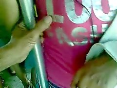 boob grope in bus