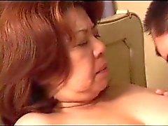Granny japanese fucks a young boy