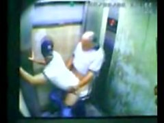 Dad and son caught fucking in elevator