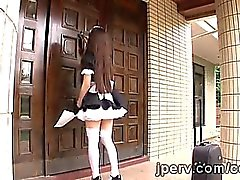 Beautiful Japanese maids must pass a hard tests to be haired
