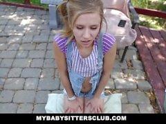 MyBabySittersClub - Pieni Lastenvahti Caught Masturbating