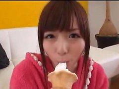 Japanskt blowjob och handjob