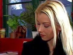 Nikky för blond Nylon Strumpbyxa Fotsex Fetisch