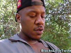 Siyah adam vidalar twink