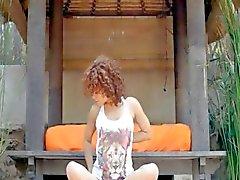 Caprices natte yoga met roze vibrator