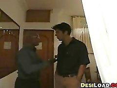 Eccitato della casalinga indiani viene sbattuto