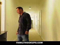 FamilyHookUps - Teen Pussy Plowed By Stepdad