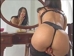 Amazing Veronica Zemanova in black lingerie