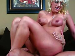 Blonde babe gets her tight ass drilled