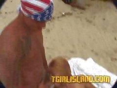 TS Victoria Adams In Beach Ramming