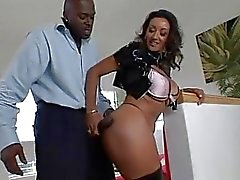 Prick pumper Persia Monir takes a big long black prick up her hot fuck hole