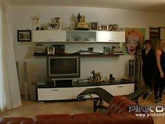 PINKO Video ad alta italiana Anale Trio
