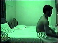 Nygift gift hot pakistanska par knullar på hotell