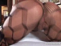 Asian MILF Ava Devine gagging on cock